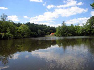 De watermolen achter de dijk van Le Touroulet